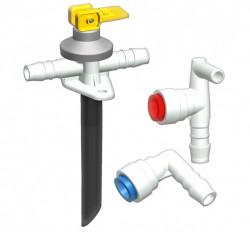 Ansamblu conectare boiler Truma pentru furtun Ø 10mm