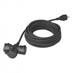 Cablu Schuko 10 m cu 3 prize