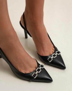 Pantofi Olive Black