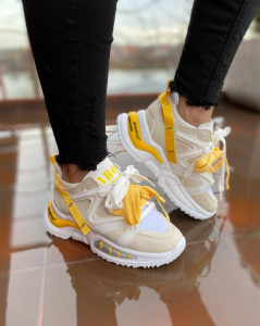 Adidasi ABO Creme&Yellow