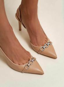 Pantofi Olive Crem