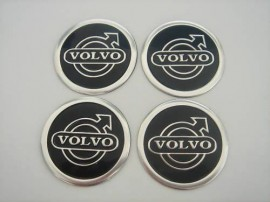 Centros de Jantes Autocolantes Volvo 60mm