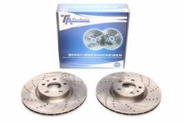 Imagens Discos frontais Ta-Technix Ranhurados + Perfurados + Ventilados Alfa Romeo 156  284mm