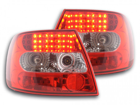 Imagens Farolins Audi A4 B5 Sedan LED claros /vermelhos 95-00