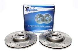 Discos frontais Ta-Technix Perfurados + Ranhurados + Ventilados Vw Scirocco III 312mm