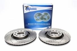Imagens Discos frontais Ta-Technix Perfurados + Ranhurados + Ventilados Audi A4 B7 Avant 321mm