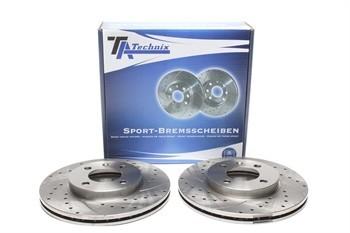 Discos Ta-Technix Perfurados + Ventilados + Ranhurados Vw Golf 3 256mm