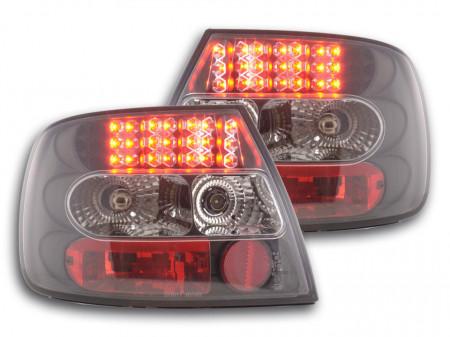 Imagens Farolins Audi A4 B5 Sedan LED pretos 95-00