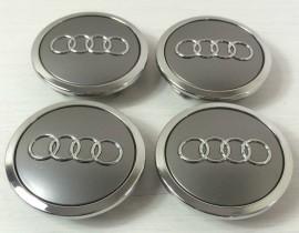 Imagens Centros de Jantes Audi 69mm cinza