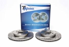 Imagens Discos frontais Ta-technix Ranhurados + Perfurados + Ventilados Honda Civic VI EJ2 262mm