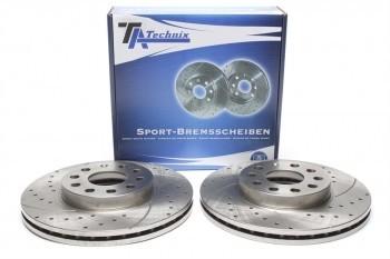 Imagens Discos Ta-Technix Perfurados + Ranhurados + Ventilados Audi A3 8P 288mm