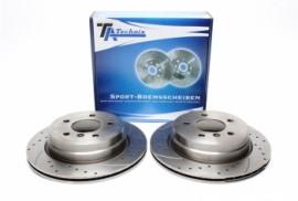 Imagens Discos traseiros Ta-Technix Perfurados + Ranhurados + Ventilados BMW E92 320D 300mm