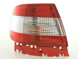 Imagens Farolins Audi A4 B5 Sedan vermelhos / brancos 95-00