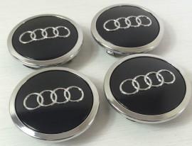 Imagens Centros de Jantes Audi 69mm pretos