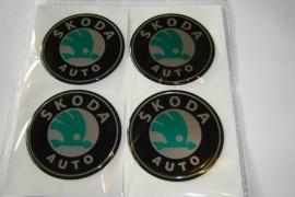 Imagens Centros de Jantes Autocolantes Skoda 60mm