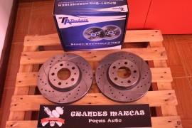 Imagens Discos dianteiros Ta-Technix Ventilados + Perfurados + Ranhurados Volvo S70 280mm