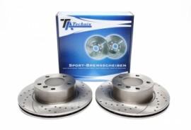 Imagens Discos frontais Ta-Technix Ranhurados + Perfurados + Ventilados BMW E82 292mm