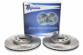 Imagens Discos frontais Ta-Technix Ranhurados + Perfurados + Ventilados Vw Caddy III 288mm