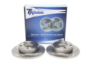 Imagens Discos Ta-Technix Perfurados e Ranhurados Audi A4 B5 245mm