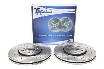 Imagens Discos Ta-Technix Perfurados + Ranhurados + Ventilados Vw Golf 4  288mm