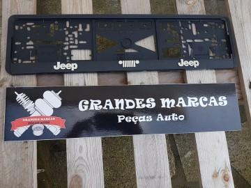 Placa de matricula Jeep