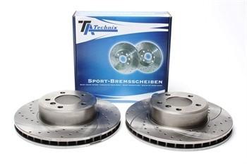 Imagens Discos Ta-Technix Perfurados + Ranhurados + Ventilados BMW E60 324mm