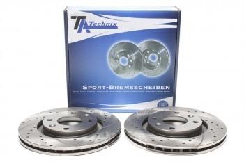 Imagens Discos Ta-Technix perfurados + ventilados + perfurados Peugeot 208 266mm