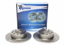 Discos traseiros Ta-Technix Ranhurados + Perfurados + Ventilados Seat Leon 5F 255mm
