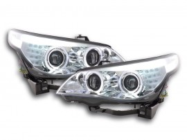 Farois Angel Eyes BMW E60 / E61 05-07 cromados