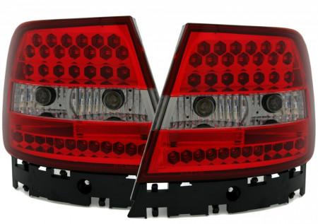 Imagens Farolins Audi A4 B5 Sedan LED vermelhos e pretos