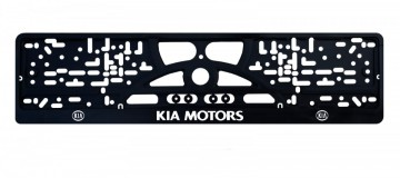 Placa de matricula Kia