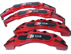 Capas de Travao Audi S-Line vermelhas e pretas