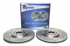 Imagens Discos frontais Ta-Technix Ranhurados + Perfurados + Ventilados Audi TT 8N 312mm