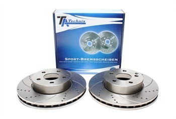 Imagens Discos Ta-Technix Perfurados + Ranhurados + Ventilados Mercedes W204 295mm