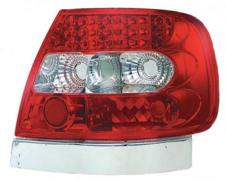 Imagens Farolins Audi A4 B5 Sedan Red / Clear LED