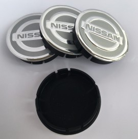 Imagens Centros de Jantes Nissan 60/55mm cinza