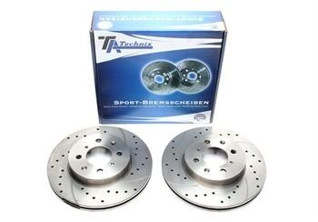 Discos Ta-Technix Perfurados, Ranhurados e Ventilados Honda Concerto 262.3mm
