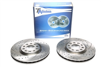 Discos Ta-Technix perfurados + ranhurados + ventilados Alfa Romeo 159 305.5mm