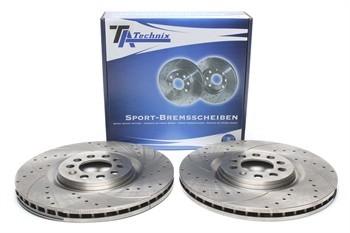 Imagens Discos Ta-technix Perfurados + Ranhurados + Ventilados Seat Ibiza 6L 312mm