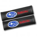 Almofadas de Cintos Subaru tipo carbono