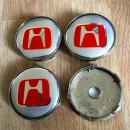 Centros de Jantes Honda 60/57mm cinza e vermelhos