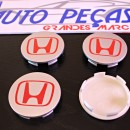 Centros de Jantes Honda 68mm cinza e vermelhos