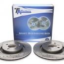 Discos frontais Ta-Technix Perfurados + Ranhurados + Ventilados Seat Ibiza 6L 280mm