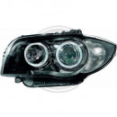Farois pretos Angel Eyes BMW E81, E82, E87, E88