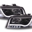 Farois pretos com Luz Diurna LED Audi A4 B6 8E 01-04