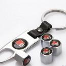 Tampas de valvulas + porta-chaves Audi S-Line