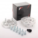Adaptadores de furação Japan Racing 5x100 para 5x112 20mm cinza