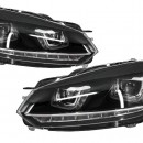 Faróis VW Golf 6 VI (2008-2013) Golf 7 LED 3D DRL U-Design LED Flowing