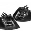 Piscas frontais BMW E46 Sedan pretos em LED