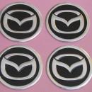 Centros de Jantes Autocolantes Mazda 60mm